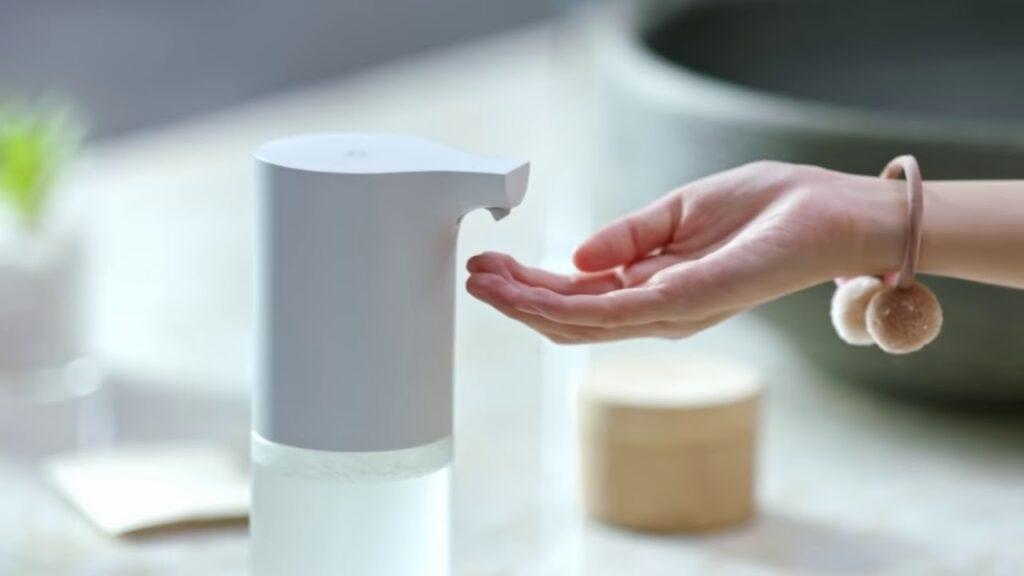 جهاز الصابون السائل الذكي من شاومي افضل طرق استخدام الصابون السائل