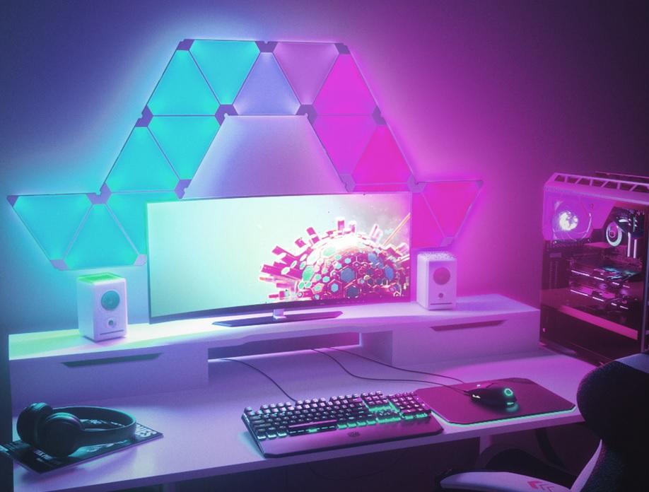 ألواح الإضاءة الذكية من (نانوليف)الأنسب لأي غرفة جيمنج