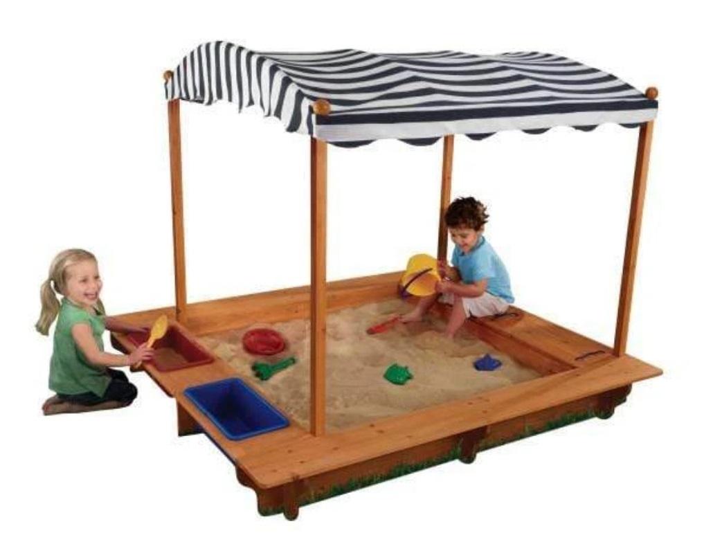 صندوق الرمال أفضل ألعاب الحديقة للأطفال