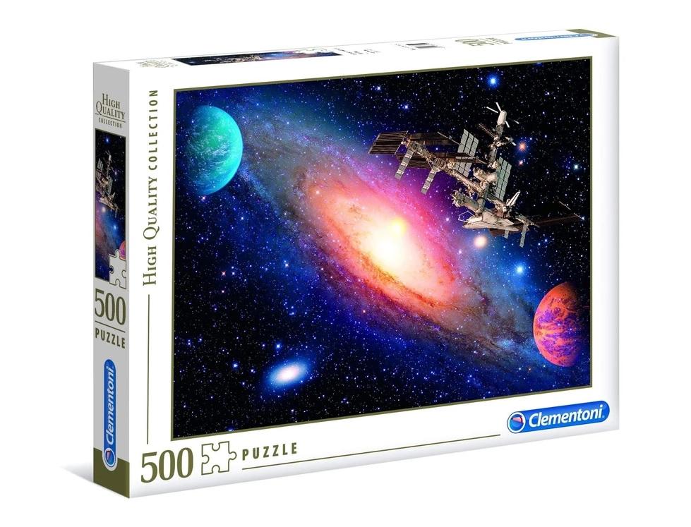 ألعاب اطفال : لعبة تطبيقات 500 قطعة CLEMENTONI - Space Station