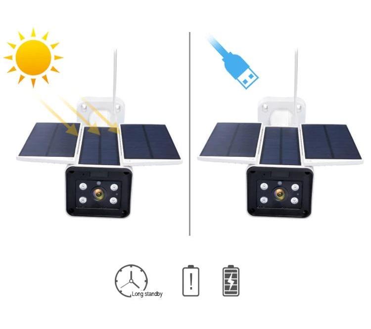 كاميرا المراقبة بالطاقة الشمسية