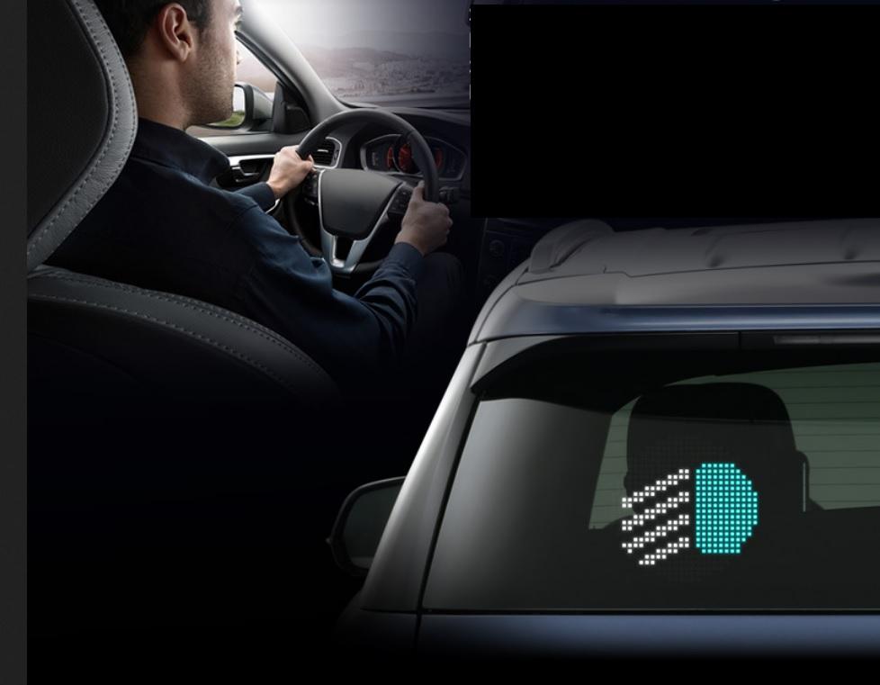 شاشة عرض للسيارة للوجوه التعبيرية : أفضل وسيلة للتواصل بين السيارات على الطرق