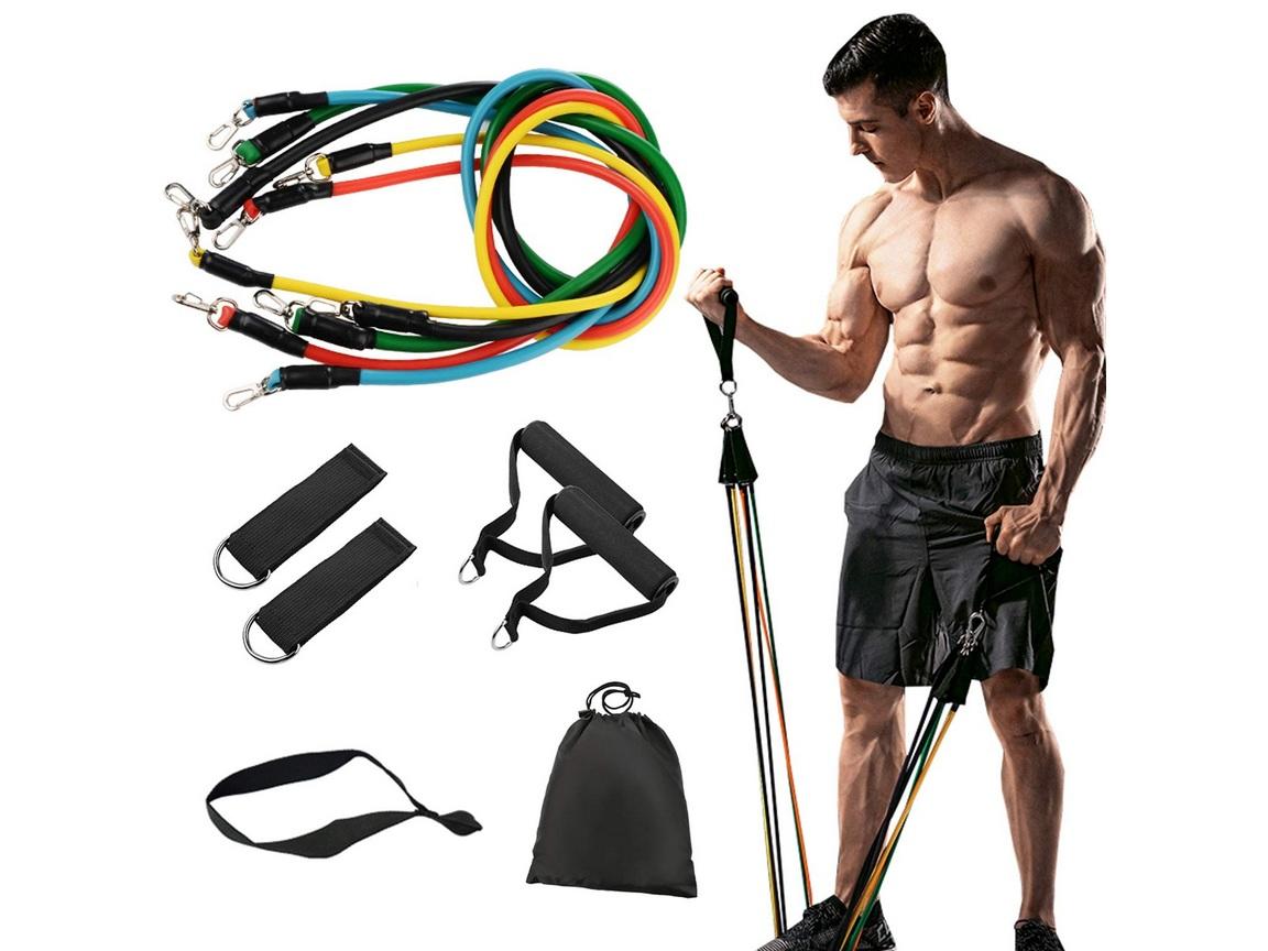 مجموعة حبال اللياقة البدنية Fitness Pull Band 11pcs