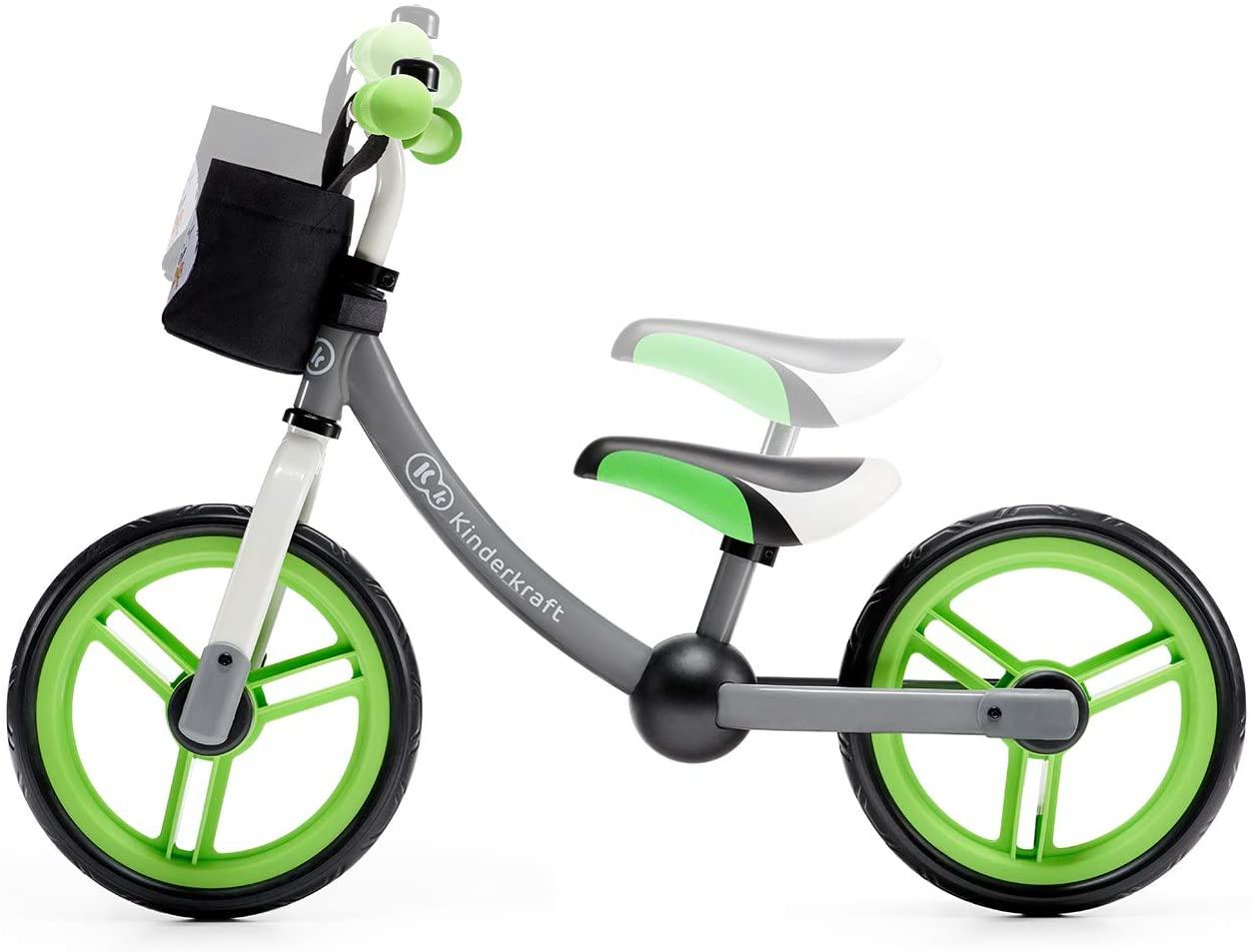 بسكليت ذات لون أخضر و رمادي Kinderkraft Balance 2WAY next z akcesoriami
