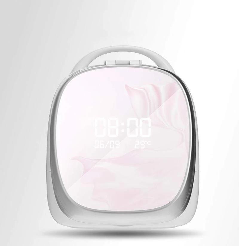 صندوق تخزين وتنظيم المكياج مع مرآة ذكية Elfa Magic box