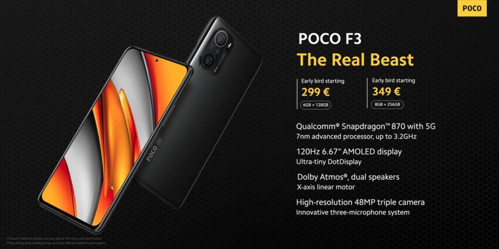 هاتف POCO F3 مع Snapdragon 870 من شاومي