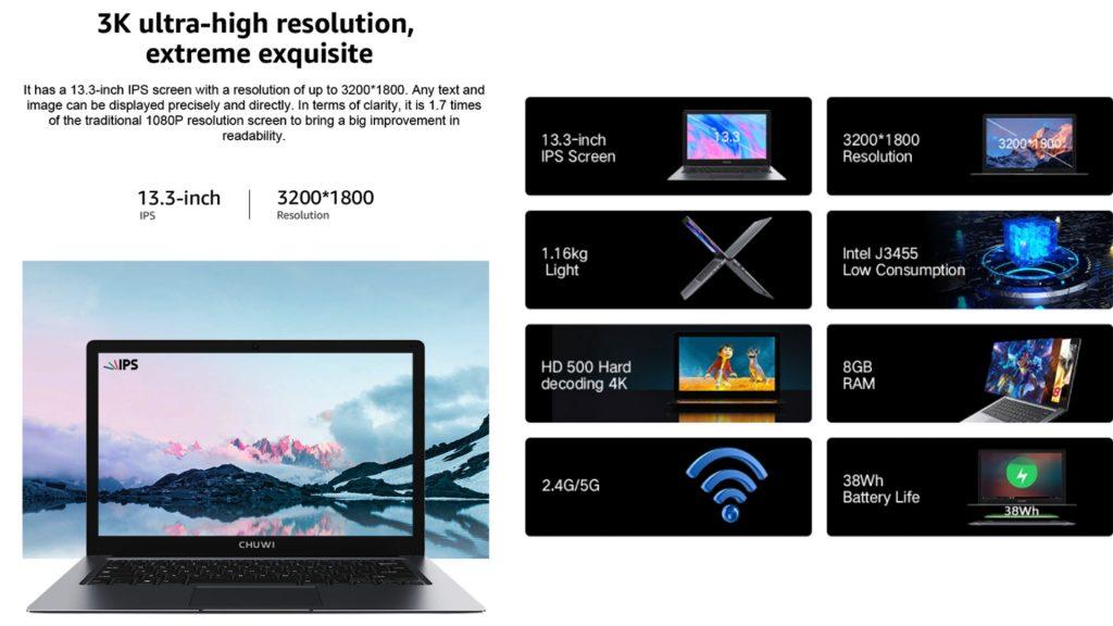 مراجعة جهاز CHUWI HeroBook Pro
