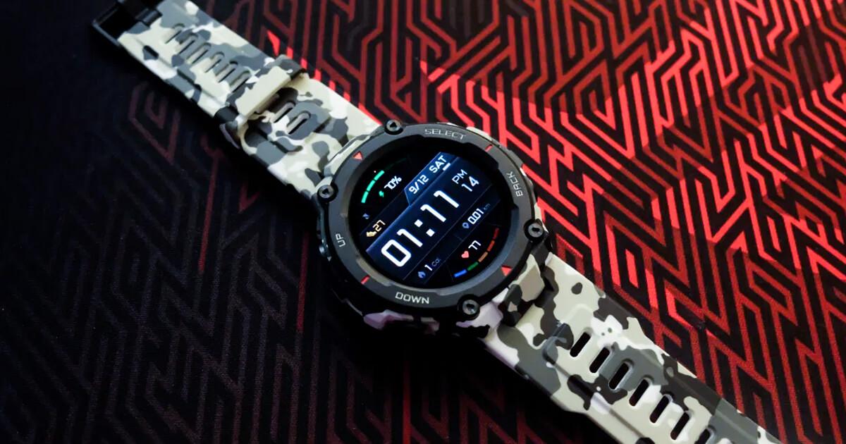 الساعة الذكية Amazfit T-Rex مع شهادة عسكرية وذكاء فائق