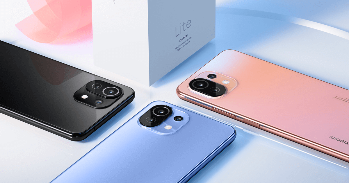 هاتف Xiaomi Mi 11 Lite الذكي النحيف من شاومي
