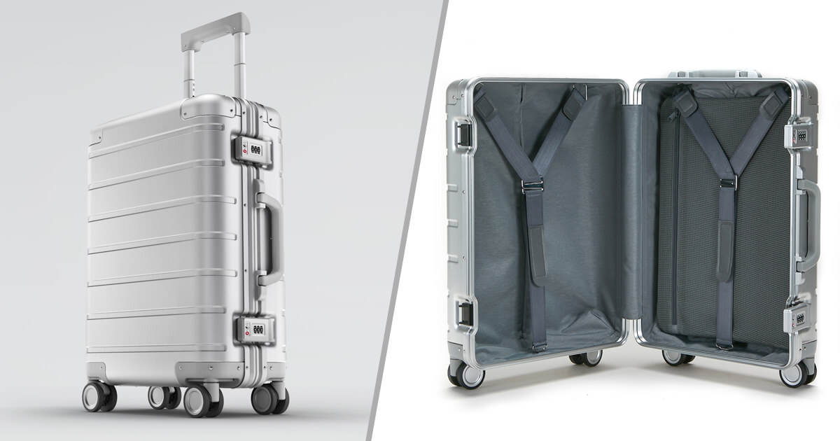 حقيبة السفر XIAOMI Mi Metal Suitcase بتصميم رائع