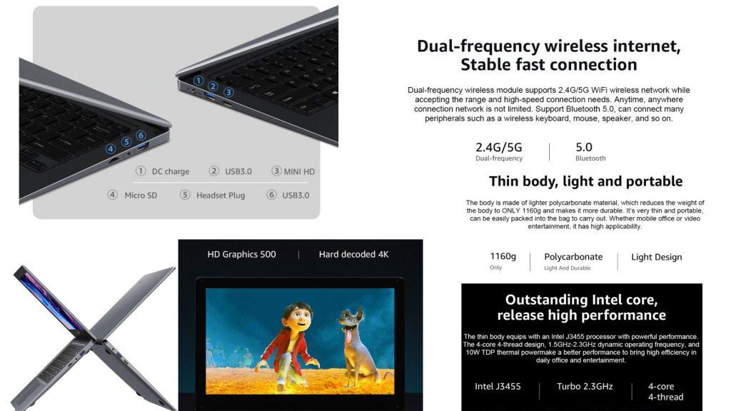 لاب توب CHUWI HeroBook Pro