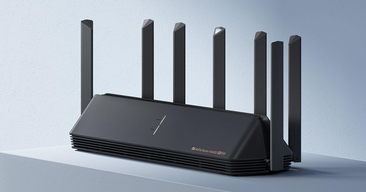 جهاز التوجيه Mi AIoT Router AX6000 لتوزيع الواي فاي من شاومي