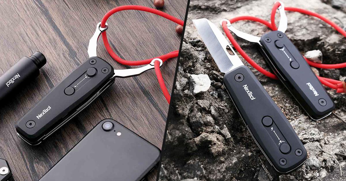 سكين Xiaomi Nextool القابل للطي مع مقلاع من شاومي