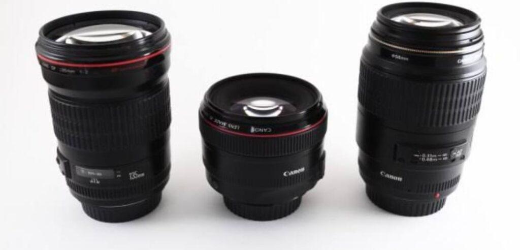 أنواع عدسات كاميرات التصوير